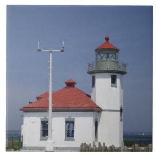 USA, Washington, Seattle, Alki Point Lighthouse, Tile