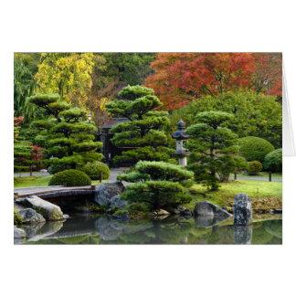 USA, Washington, Seattle, Arboretum, Japanese Card