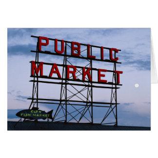 USA, Washington, Seattle, Pike Street Market Card