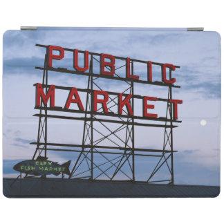 USA, Washington, Seattle, Pike Street Market iPad Cover