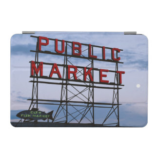 USA, Washington, Seattle, Pike Street Market iPad Mini Cover