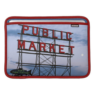 USA, Washington, Seattle, Pike Street Market MacBook Sleeve