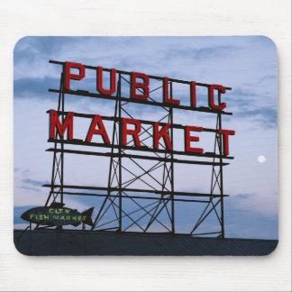 USA, Washington, Seattle, Pike Street Market Mouse Mat