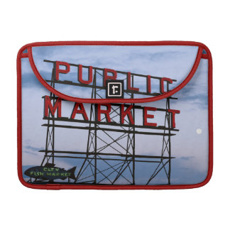 USA, Washington, Seattle, Pike Street Market Sleeve For MacBook Pro