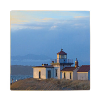 USA, Washington, Seattle, Puget Sound Wood Coaster