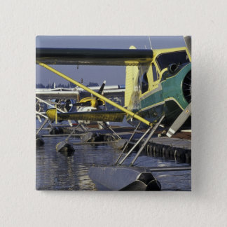 USA, Washington, Seattle, Seaplanes docked on 15 Cm Square Badge