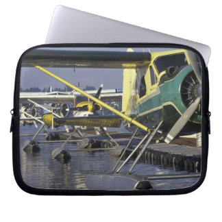 USA, Washington, Seattle, Seaplanes docked on Laptop Sleeve