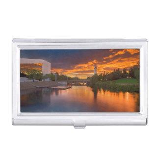USA, Washington, Spokane, Riverfront Park Business Card Holder