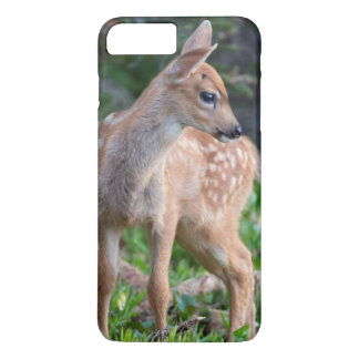 USA, Washington State. Blacktail Deer Fawn iPhone 8 Plus/7 Plus Case