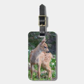 USA, Washington State. Blacktail Deer Fawn Luggage Tag