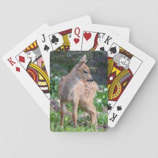 USA, Washington State. Blacktail Deer Fawn Playing Cards