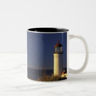 USA, Washington State, Fort Canby State Park. Two-Tone Coffee Mug
