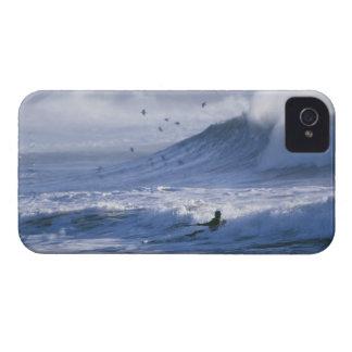 USA, Washington State, La Push. Man kayak iPhone 4 Case-Mate Case