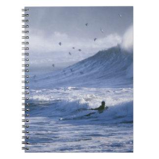 USA, Washington State, La Push. Man kayak Notebooks