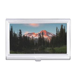 USA, Washington State. Mt. Rainier Reflected Business Card Holder