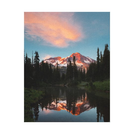 USA, Washington State. Mt. Rainier Reflected Canvas Print