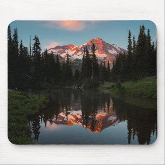 USA, Washington State. Mt. Rainier Reflected Mouse Mat