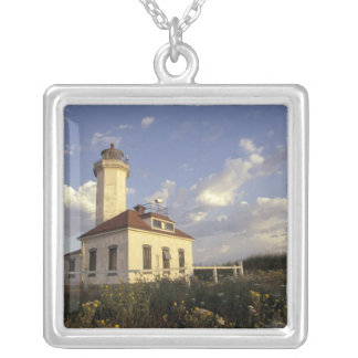 USA, Washington State, near Port Townsend. Port Silver Plated Necklace
