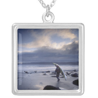 USA, Washington State, Olympic National Park. Silver Plated Necklace