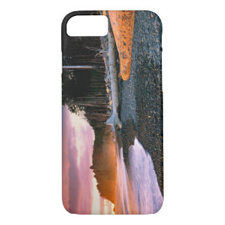 USA, Washington State, Olympic NP. Waves lap the iPhone 8/7 Case