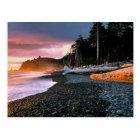 USA, Washington State, Olympic NP. Waves lap the Postcard