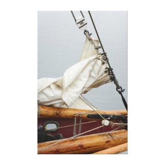 USA, Washington State, Port Townsend. Sailboat Canvas Print
