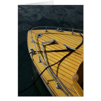 USA, Washington State, Port Townsend. Wood bow Card