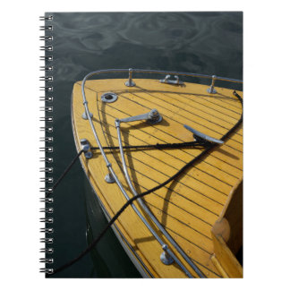 USA, Washington State, Port Townsend. Wood bow Notebook