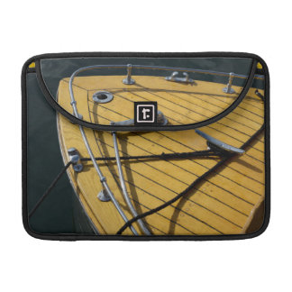 USA, Washington State, Port Townsend. Wood bow Sleeve For MacBook Pro