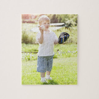 USA, Washington State, Seattle, Cute boy (2-3) Jigsaw Puzzle