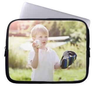 USA, Washington State, Seattle, Cute boy (2-3) Laptop Sleeve