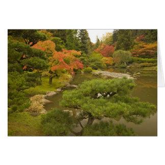 USA, Washington State, Seattle. Japanese Card