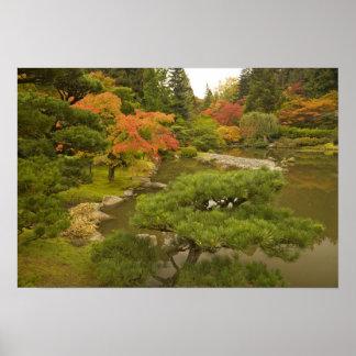 USA, Washington State, Seattle. Japanese Poster