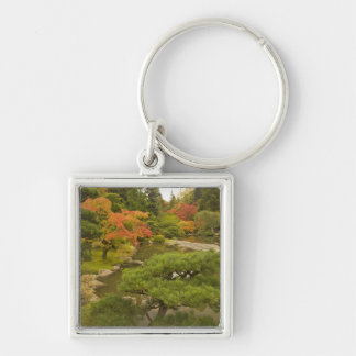 USA, Washington State, Seattle. Japanese Silver-Colored Square Key Ring