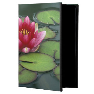 USA, Washington State, Seattle. Water lily and Case For iPad Air