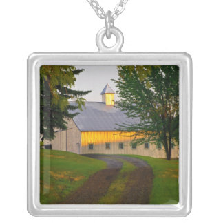 USA, Washington, The Palouse Silver Plated Necklace