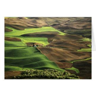 USA, Washington. View of Palouse farm country Card