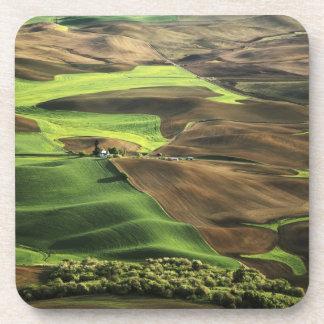 USA, Washington. View of Palouse farm country Coaster