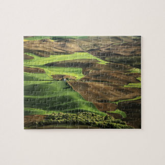 USA, Washington. View of Palouse farm country Jigsaw Puzzle