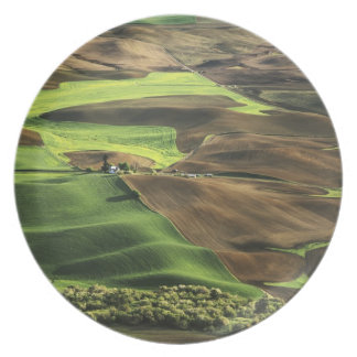 USA, Washington. View of Palouse farm country Plate