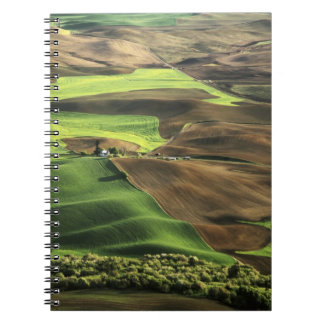 USA, Washington. View of Palouse farm country Spiral Notebook