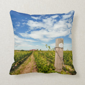 USA, Washington, Walla Walla. Cabernet Sauvignon Throw Pillow