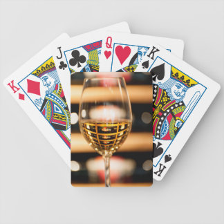 USA, Washington, Walla Walla. Wine Glass Poker Deck
