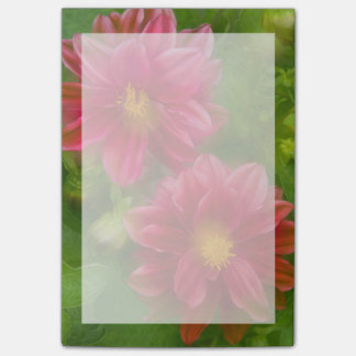 USA, Washington, Whidbey Island. Dahlia montage Post-it Notes
