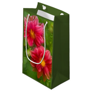 USA, Washington, Whidbey Island. Dahlia montage Small Gift Bag