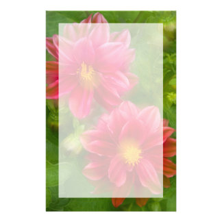 USA, Washington, Whidbey Island. Dahlia montage Stationery