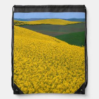 USA, Washington, Whitman County, Palouse, Canola Drawstring Bag