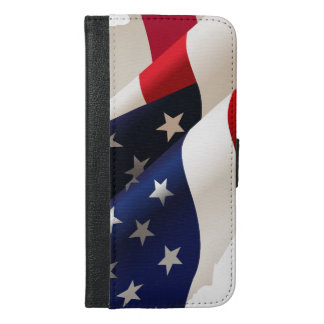 Usa wave flag iPhone 6/6s plus wallet case