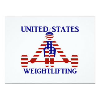 USA Weightlifting - Powerlifting 17 Cm X 22 Cm Invitation Card