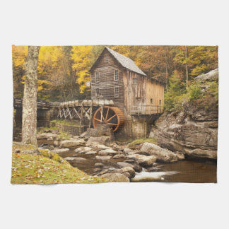 USA, West Virginia, Clifftop. Babcock State 2 Tea Towel